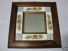 Specchio  cornice di legno anticata classico Deruta 1.