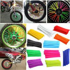 Set 72Pcs Universal Motocross Dirt Bike Enduro Wheel Rim Spoke Wraps Skins Cover