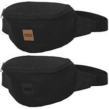 URBAN CLASSICS HIP BAG black Bauchtasche Gürtel Tasche Patch verstellbar