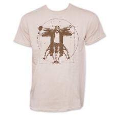 The Big Lebowski Vitruvian Da Vinci Graphic Tee Shirt Tan