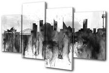 Sydney City Industrial Grunge Urban MULTI CANVAS WALL ART Picture Print