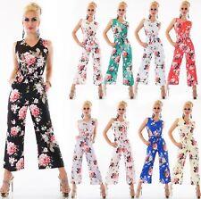Donna Overall Pantalone Body Intero Tuta Completo Floreale Blumen-Print Italia
