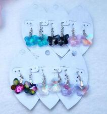 Vidrio Cristal Pendientes de Gota de mariposa