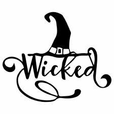 "4.5"" WICKED WITCH Vinyl Decal Sticker Car Window Laptop Halloween"
