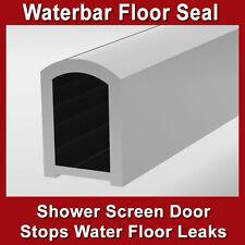SHOWER SCREEN DOOR WATER BAR FLOOR SEAL ANTIRUST STRIP ALUMINIUM CHROME 14mm(h)