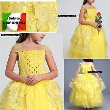 La Bella e La Bestia Vestito Carnevale Maschera Belle Cosplay Dress BEAB01 SD