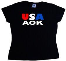 USA AOK Drôle Femme T-Shirt