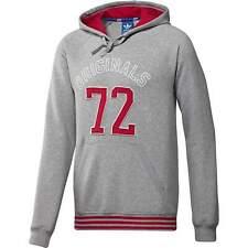 Adidas 72 Original Mens Grey Slim Fit Hoodie Hoody