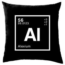 Alex - Periódica Elemento - Cojín - (40.6cm) - CIENCIA - NERD - GEEK - 8 COLORES