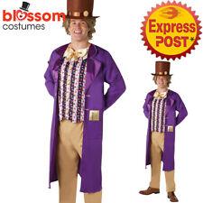 CA349 Mens Willy Wonka Chocolate Factory Book Week Fancy Costume