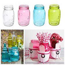 Glass Mason Jar Bottle Retro Vintage Wedding Party Cafe Decoration Coloured