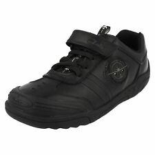 Chicos Clarks Zapatos Escolares Negro Con Luces-Wing Lite