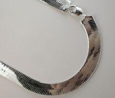 14mm Herringbone Necklace. Sterling Silver 925 Italian Chain 18,20,22,24,30 inch