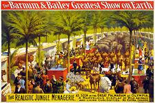 Vintage Circus POSTER.Barnum Baileys Tent.Art Decor.Interior design.727