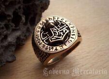"Ring ""Thors Hammer"" aus Bronze - Siegelring Mjölnir - Wikinger Schmuck"