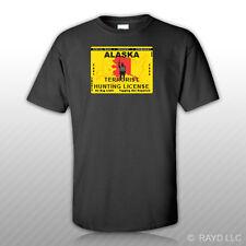 Alaska Terrorist Hunting Permit T-Shirt Tee Shirt Free Sticker License AK