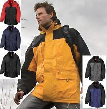 Waterproof Mens Multifunction Winter Coat Jacket Adjustable Hood with 10 pockets