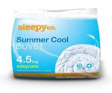 4.5 Tog Spring Summer Hollowfibre Duvet Quilt, Polypropylene Light, Non-Allergy