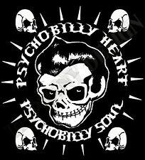 Psychobilly Heart Soul T-Shirt Mens Ladies Rockabilly Goth Biker Rock & Roll 50