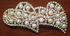 Prom.Two Heart Hair Clip, Pearl Hair Clip, Hair Accessories - Please Choose!