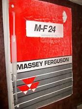 Massey Ferguson MF24 : catalogue de pièces 1992