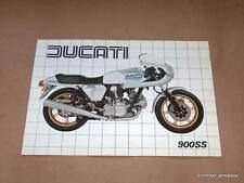 NOS Ducati 900 SS Factory Brochure 1982 bevel twin