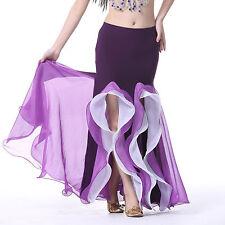 La danse du ventre jupe Costume sirène en y paquet hanche Bi-couleurs Carnaval jupe