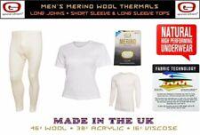 Guardian ® lana merino Uomo Biancheria intima termica lunga/Maniche Corte Top Long John