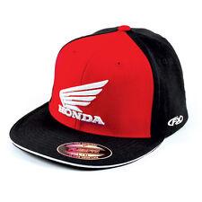 Factory Effex Honda Big Red Black Flex-Fit Hat Cap Adult Licensed CR CRF CBR XR