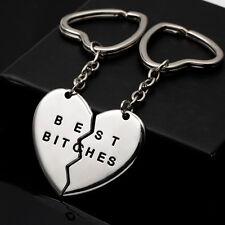 2X nouveau cadeau d'amitié de coeur d'or de Keychain