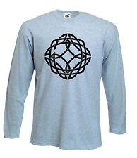 Nodo Celtico a maniche lunghe T-shirt Pagano Wicca Druido Gotico-colore a scelta