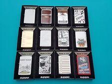 Zippo  12 verschiedene (never fired) Neu  in Originalbox 1A absolut TOP