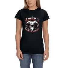 Lucky 7 Iron Rumblers Motorcycle Engine Chopper Biker Women's T-Shirt Tee