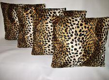 """4 in pelliccia sintetica morbida Velboa Leopard Design Copricuscino 16"""" 18"""" 20"""" Cuscini a Dispersione"""