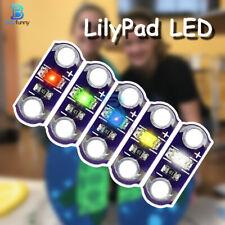 5/25PCS LilyPad SMD LED 3V-5V Light Module DIY Kits Red/Green/Blue/Yellow/White