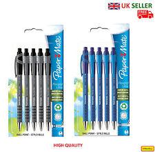 Brand New Paper Mate Flexgrip Retractable Ballpen Pack of 5 - UK SELLER