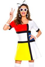 Music legs womens 60's mod muse dress costume