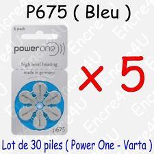 30 piles auditives : BLEU P675 ( = 5 blisters )