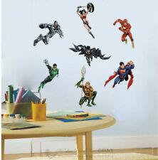 Justice League Heros Wall Stickers Kids Nursery Decor Vinyl Decal Art Mural Gift