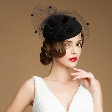 A052 Ladies vintage style Felt Wool Fascinator Cocktail Cheltenham Fesitval Hat