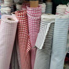ENGLISH Gingham tessuto di cotone controlli ticchettio strisce Balmoral per Tende Tappezzeria
