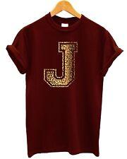 J Leopardo T Shirt Tienda Ropa texto fuente tipografía Print Swag nombre personal superior