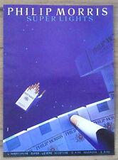 Publicité Philip Morris Super Lights , cigarettes