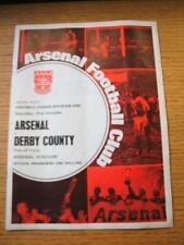 31/10/1970 Arsenal V Derby County [double saison] (Jeton retiré, Pliée, Team C