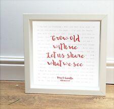 TOM Odell invecchiare con me-La nostra canzone stampa personalizzata-regalo romantico incorniciato