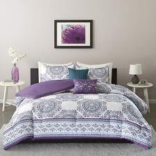 Beautiful Modern Tropical Exotic Bohemian Chic Teal Blue Purple Comforter Set