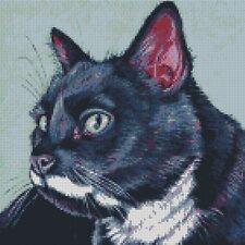 Cross Stitch Chart - Kit Black and White Cat