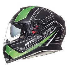 MT Thunder 3 SV Trace Full Face DVS ACU Gold Motorbike Helmet Matt Black Green