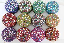 Beautiful Handmade Pill boxes / trinket boxes glass beads decoration