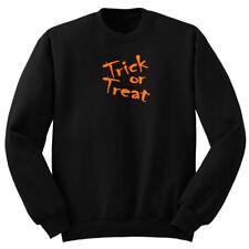 BLACK TRICK OR TREAT Sweatshirt Pullover Sweater Shirt Black no hood